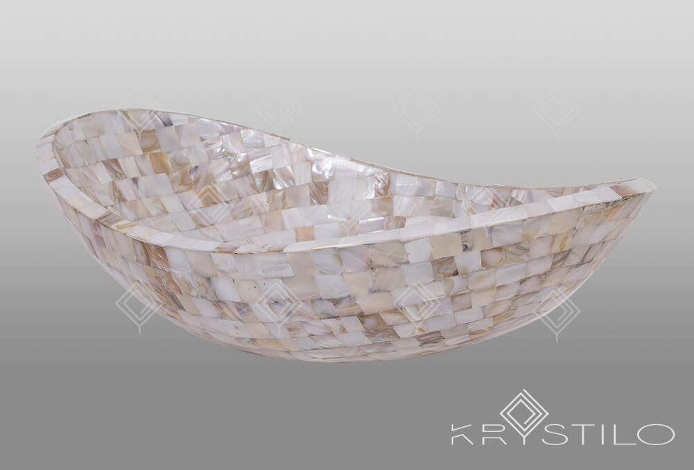 Iora White Mother of Pearl Basin