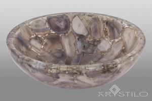 Saville purple agate basin