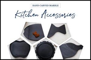 6 Creative & Elegant Marble Kitchen Accessories for Urbane Homes